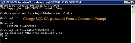 How to Reset SA password SQL 2005?