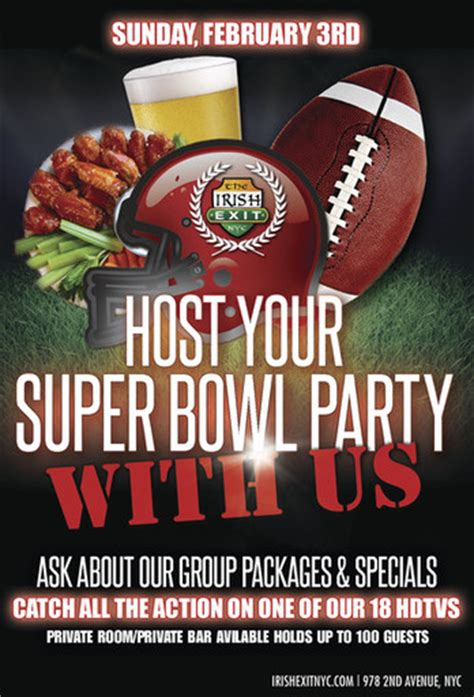 Super Bowl Parties in NYC - MurphGuide: NYC Bar Guide