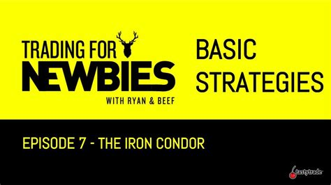 Basic Strategies - Iron Condors | Trading for Newbies