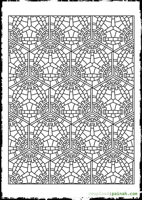 Tessellation Patterns Coloring Pages - Coloring Home