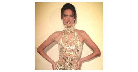 Alessandra Ambrosio prepared for the Oscar fetes in a gold