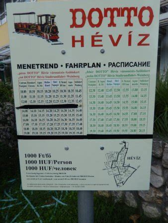 Hévíz Dotto timetable and map - Picture of Hunguest Hotel