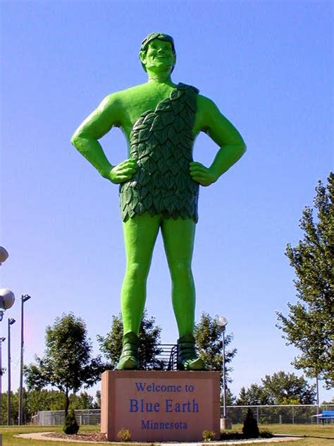 One Shot Leads to Another: JOLLY GREEN GIANT, Blue Earth