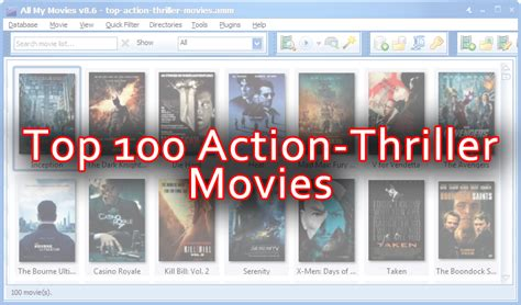 The best Action-Thriller movies - download the list of top