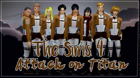 The Sims 4 Create a Sim | Anime Character | Attack on