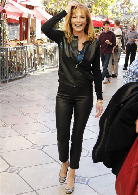 More Pics of Marg Helgenberger Leather Jacket (2 of 11