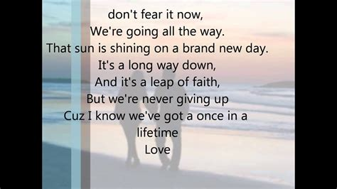 Once in a lifetime by Keith Urban Lyrics - YouTube