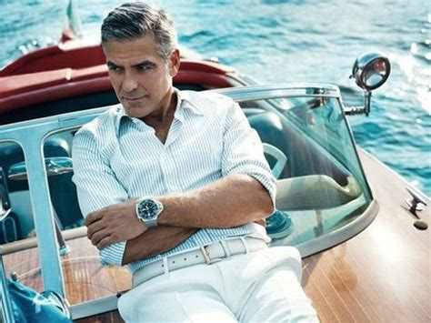George Clooney Spotted Wearing Omega Seamaster Ploprof