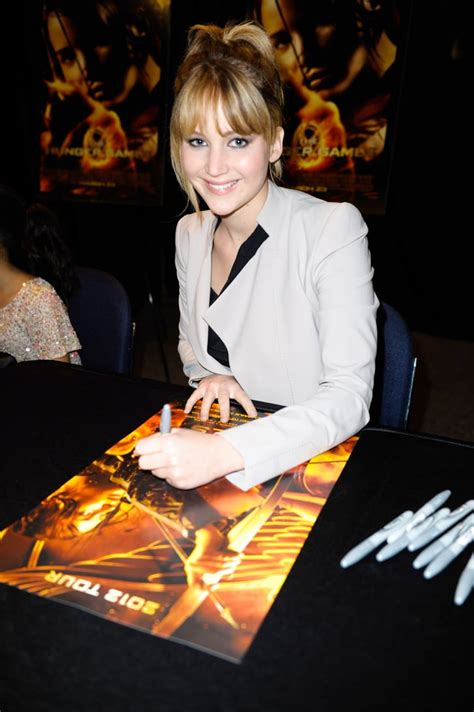 Jennifer Lawrence signed autographs during a fan event in