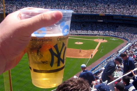 Yankee Stadium - Cold Beer on a Hot Day   The blue Yankee