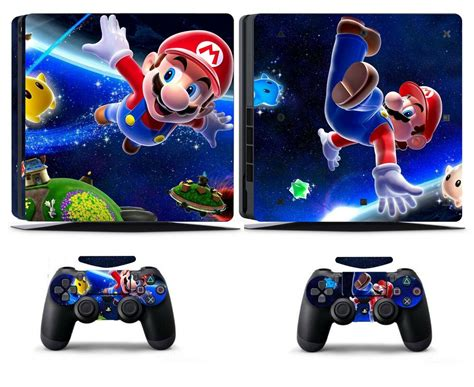 Mario 906 Vinly Skin Sticker Cover for Sony PS4 Slim