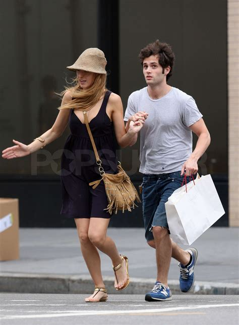 Pictures of Blake Lively and Penn Badgley Making Out in