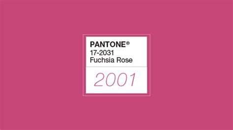 19 Colors from Pantone 2000-2018 Color of the Year [Design